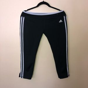 Girls adidas Athletic Capri Pants 18 black